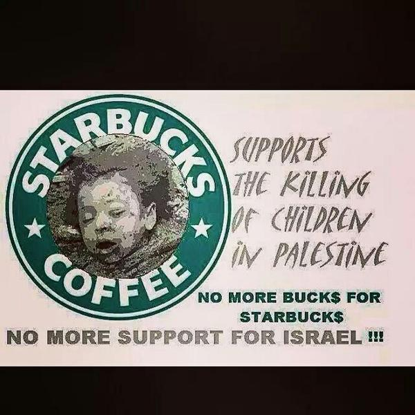 ".""@DrBaha: StarbucksCEO calls himself a Zionist & supports the IsraeliArmy Boycotting yet? http://t.co/4CVMkOX2CH"" cc @BDSsouthafrica #Gaza"