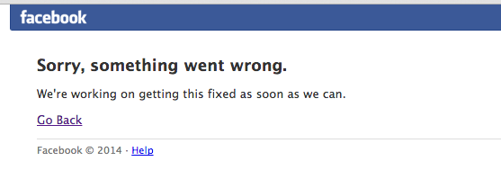 Haven't seen that in a while. #facebookdown #facewhale http://t.co/HhfYgy1EnG