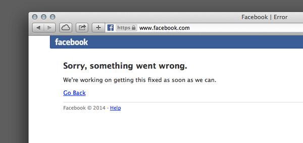 Facebook está caído en estos momentos. No cunda el pánico, respire con normalidad. http://t.co/SZGPmFON1s
