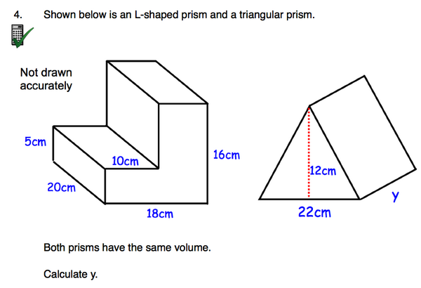 Corbettmaths on Twitter New Worksheet Volume of an Lshaped – Volume of Prism Worksheet