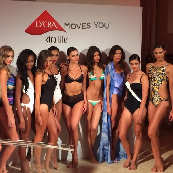 10 swimsuit designers, 10 different designs. #LYCRAMovesMiami #MBFWSwim http://t.co/yb7OWTYFUi