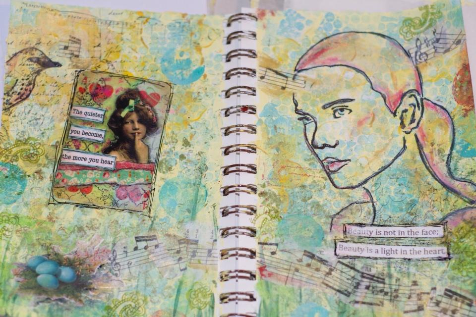 Twitter / vicki_mcleod: Here's latest #art journal ...