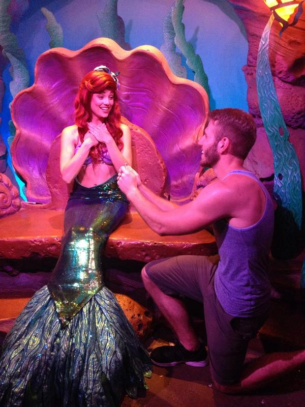 So I brought an engagement ring to Disney World and proposed to my favorite Disney Princesses (Part 1/3) http://t.co/5mUdZLDnJR