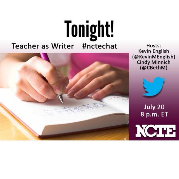 @ncte I TRULY believe teachers of writing MUST write so I'm really excited about tonight's #nctechat  #TeachersWrite http://t.co/b59y2IoKdz