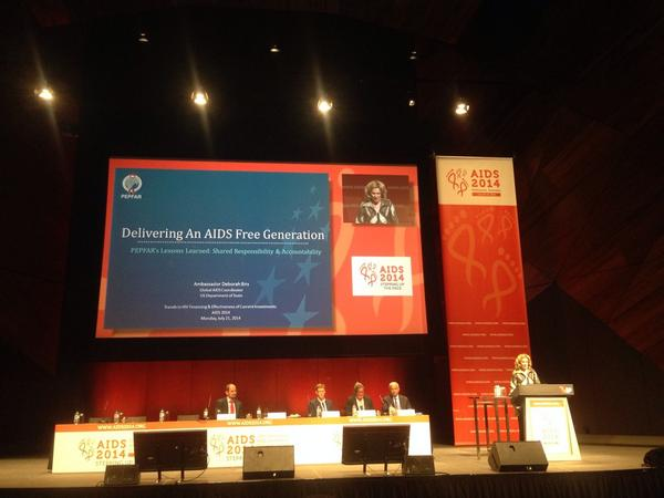 "Ambassador Deborah Birx on ""Delivering an AIDS-Free Generation"" @PEPFAR #AIDS2014 http://t.co/ZJeZgG61sT"