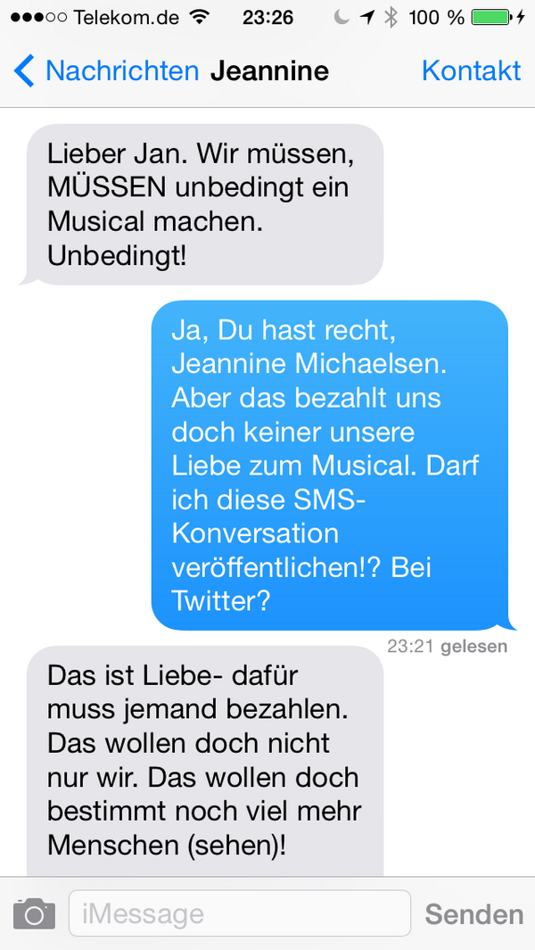 Jan Böhmermann On Twitter Sms Von Gestern Nacht Httpt