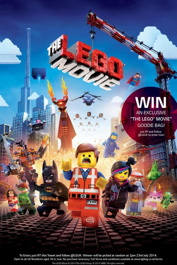 * COMPETITION TIME! *  Just RT & FOLLOW @LGUK and you could WIN an exclusive @TheLEGOMovieUK Goodie bag! http://t.co/UwCvF6bx1I