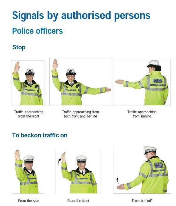 Officer Traffic Control Hand Signals Pictures to Pin on ...