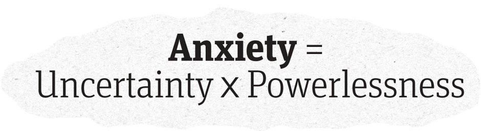 Twitter / JoyAndLife: Anxiety = Uncertainty X ...