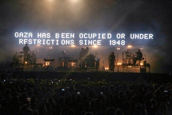 Always loved their wrk RT @Syricide: The backdrop to a set by #UK group @MassiveAttackUK last night.   #FreePalestine http://t.co/TAuJvJSkHu