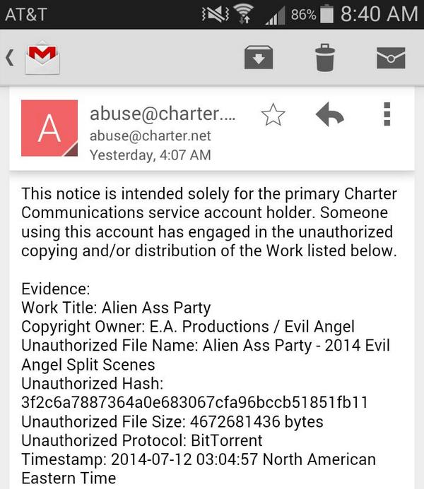 I received a copyright infringement notice for something one of my roommates downloaded http://t.co/ivoom6Z7CD