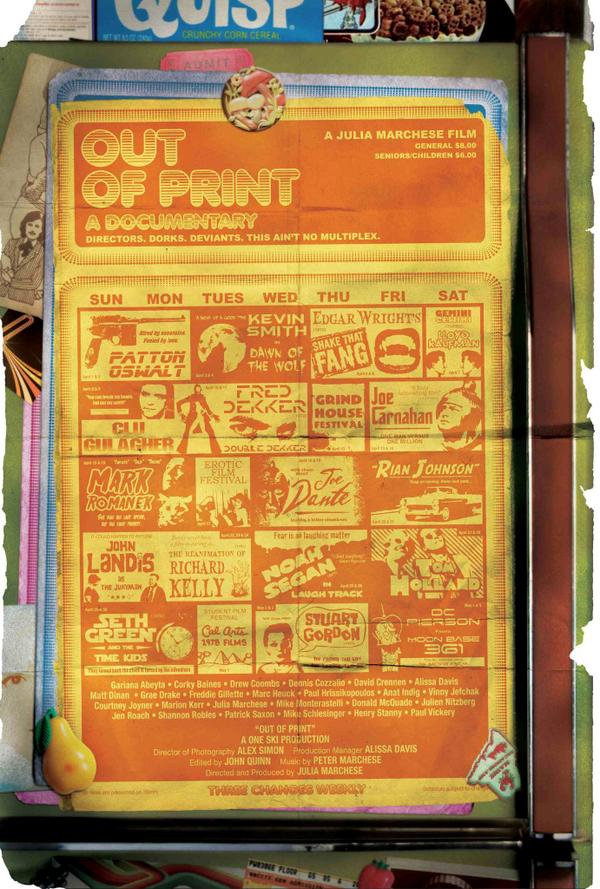 Hey @edgarwright, @ThatKevinSmith, @markromanek, @pattonoswalt, - the poster for @outofprintfilm just got released!! http://t.co/5Bt7YQWu92