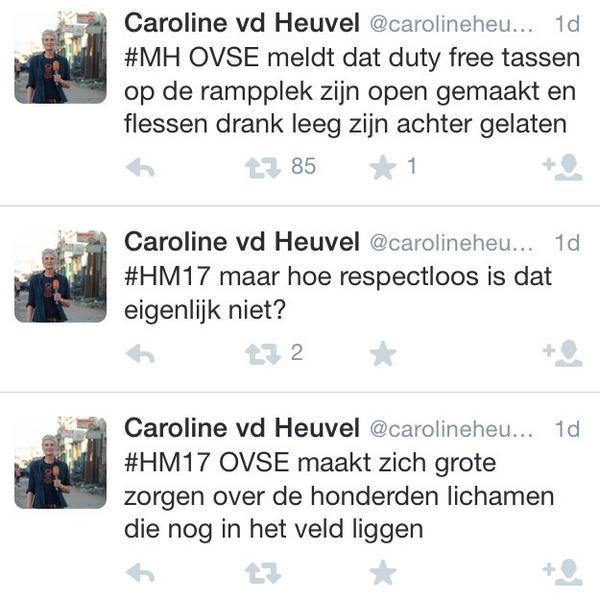 Journalist @carolineheuvel bladerde op rampplek door eigendommen van slachtoffers. Ook het vluchtnummer weet ze niet. http://t.co/l7gQIvqjdW