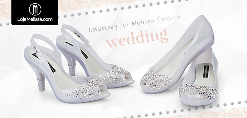Quer casar usando Melissa nos pés?