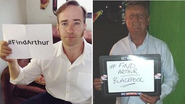 #FindArthur campaign goes global:  http:// bbc.in/1wRHRSF     <br>http://pic.twitter.com/hReJCY5ki0