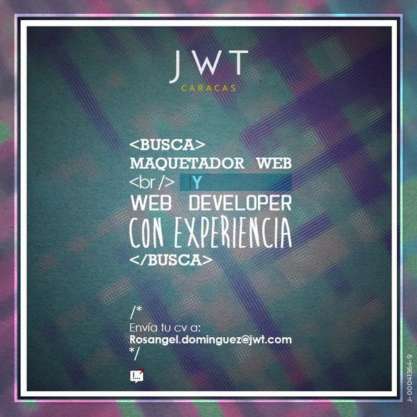 #EmpleoVE - Buscamos Web Developer y Maquetador Web (con experiencia) http://t.co/dIGRu9Cr0j