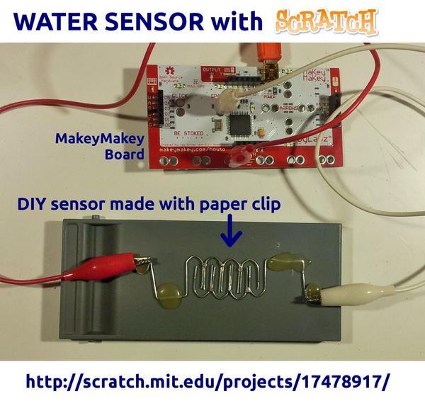 Makey Makey water sensor