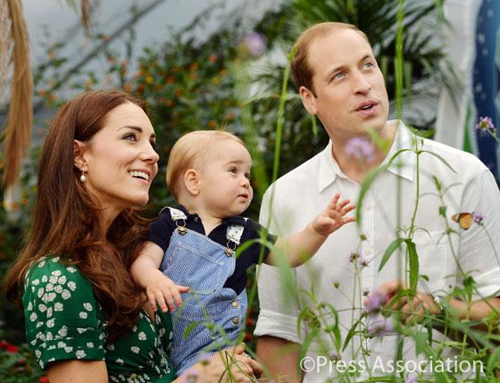 Watching the butterflies flutter by… As promised, two more pictures of Prince George #HappyBirthdayPrinceGeorge http://t.co/1q2d7HuMeG