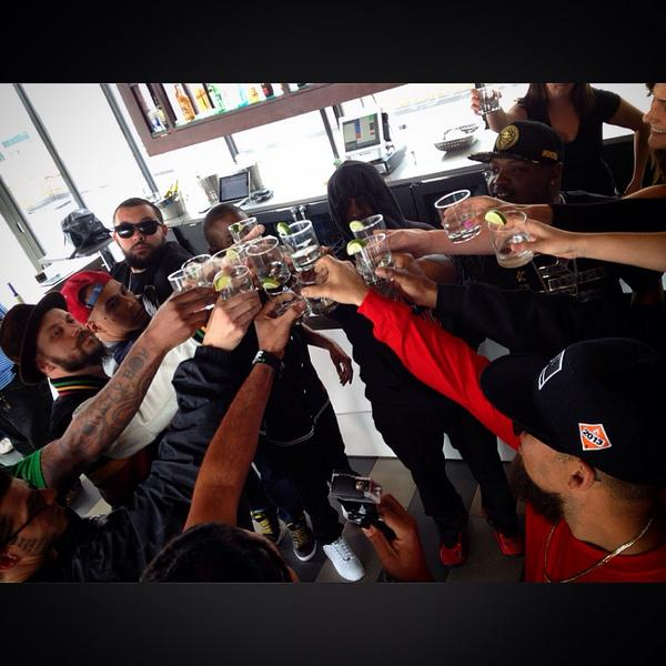 .@TechN9ne initiating shots before the #SMCypher shoot. http://t.co/fuXvFsybmw