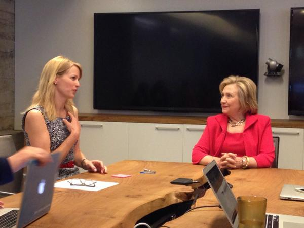 An intimate conversation with @HillaryClinton @Twitter. Honored and awed. http://t.co/b25wJJ3y1N