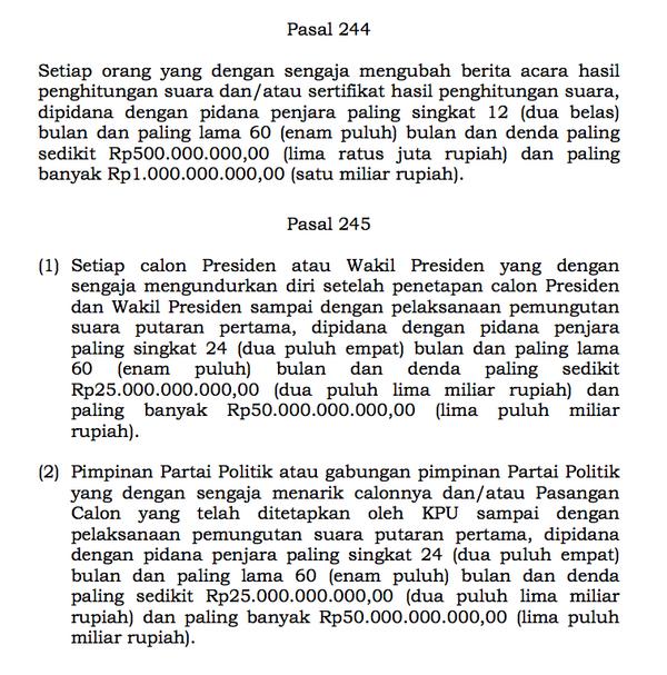 Mundur dari Pelaksanaan Pilpres, Prabowo dan Pimpinan Parpol Terancam Pidana dan Denda - http://t.co/MThwBtqXw1 http://t.co/GzuDkt4r2p