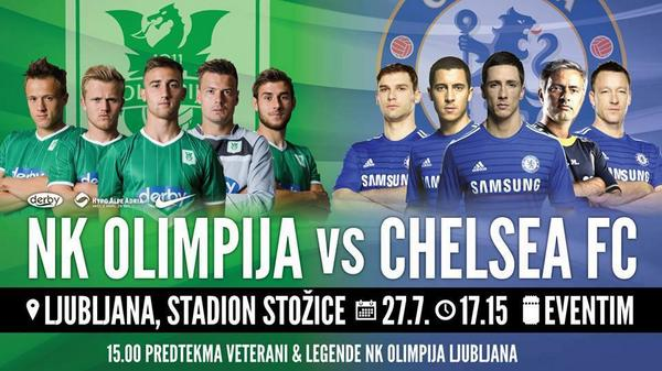 Olimpija Ljubljana v Chelsea: Watch a Live Stream of the pre season friendly