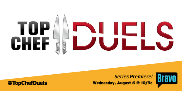 Fire it up! Your favorite chefs return in 2 weeks to face off in #TopChefDuels, Wednesday Aug. 6 @ 10/9c. http://t.co/SFvyE64dee