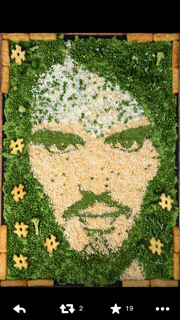 RT @RachelHallxx: Bet you've always wondered what you'd look like made from rice and broccoli, fear not @rustyrockets quite delightful http…