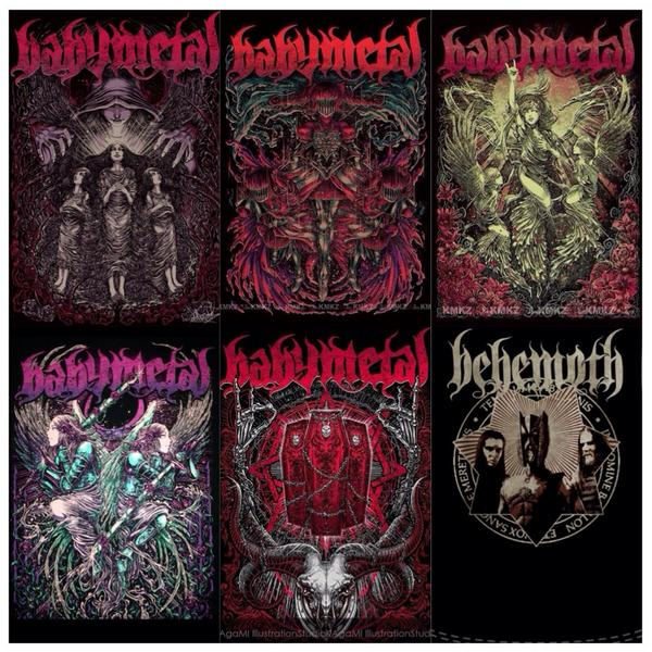 A Collection Of Bm T Shirts A Behemoth T Shirt Babymetal