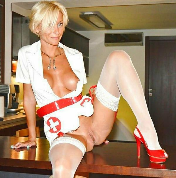 Milf nurse with toys