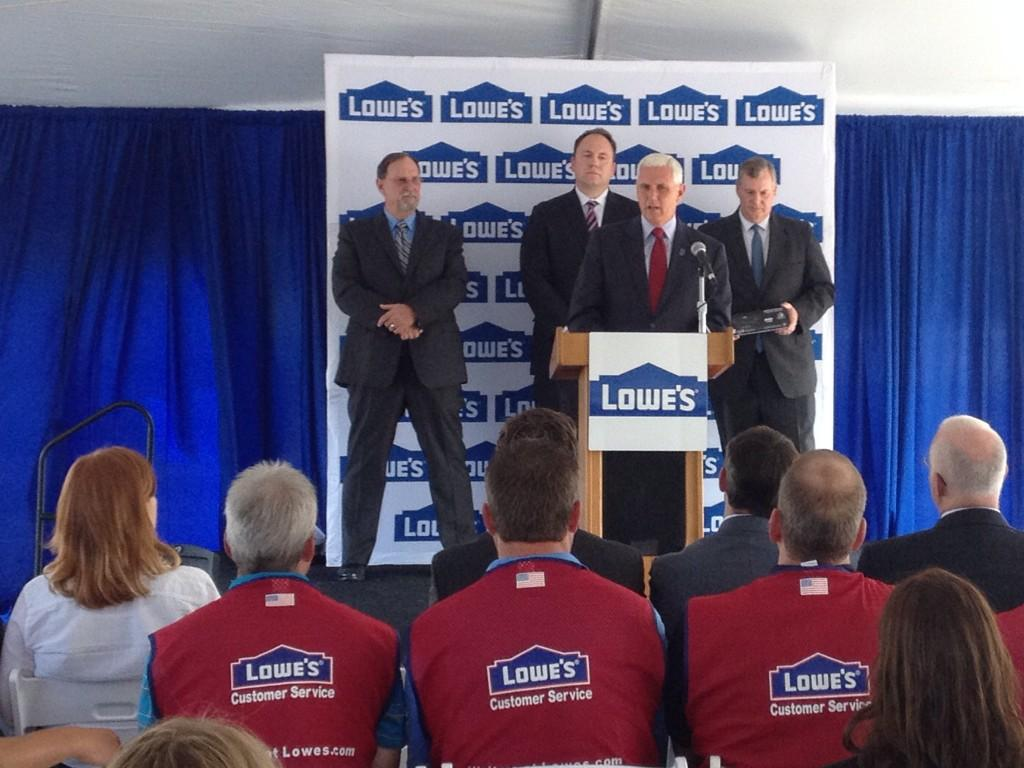 Lowe's customer support center announcement in Indianapolis