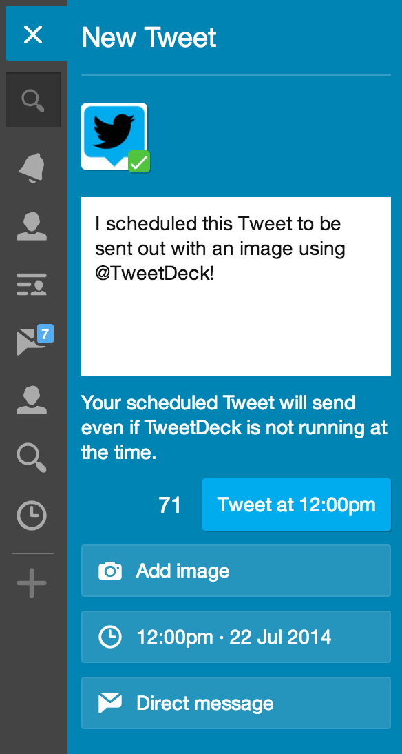 Twitter / TweetDeck: You can schedule Tweets with ...