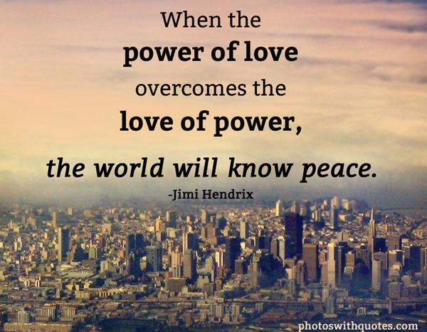 The Quote Today On Twitter When The Power Of Love Overcomes The