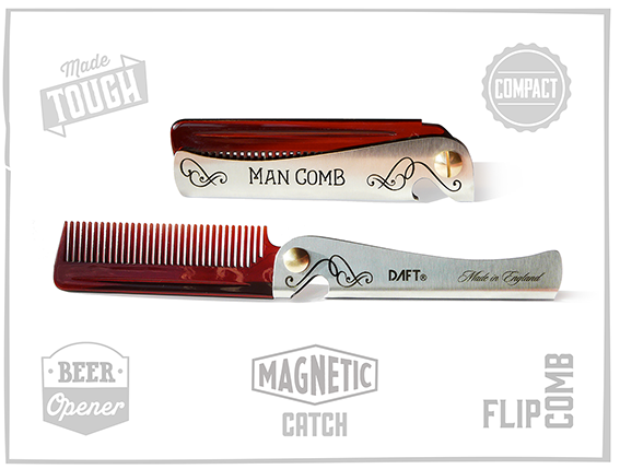 RT @DAFTdesign: I'VE JUST LAUNCHED ON KICKSTARTER! The Man Comb. Be the Boss of ur Hair, Beard & Beer. http://t.co/MAVGO3uz93  Pls RT http:…