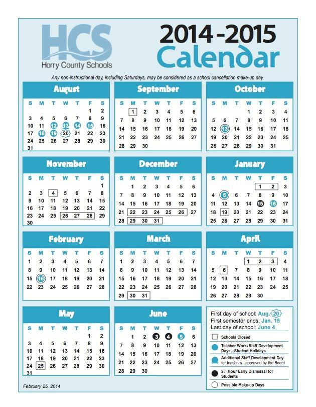 Horry county schools hcsinfo twitter - Garden grove school district calendar ...