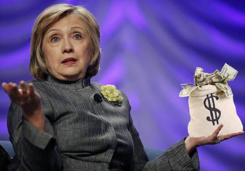 Dead broke Hillary Clinton stuck tax payers with book tour bill