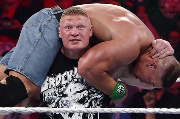 The beast is back! @HeymanHustle's client BROCK LESNAR looks to take on @JohnCena at SummerSlam! Who will win? #WWE http://t.co/vQFZ7fYPWi
