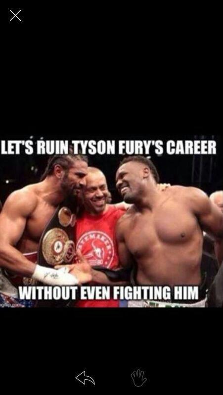 @Tyson_Fury  @mrdavidhaye