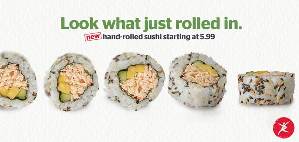 New sushi with a serious twist - California Mango & Sriracha Spicy Tuna. Order online at http://t.co/j4OTpZVpcP http://t.co/eQXLXqRJkU