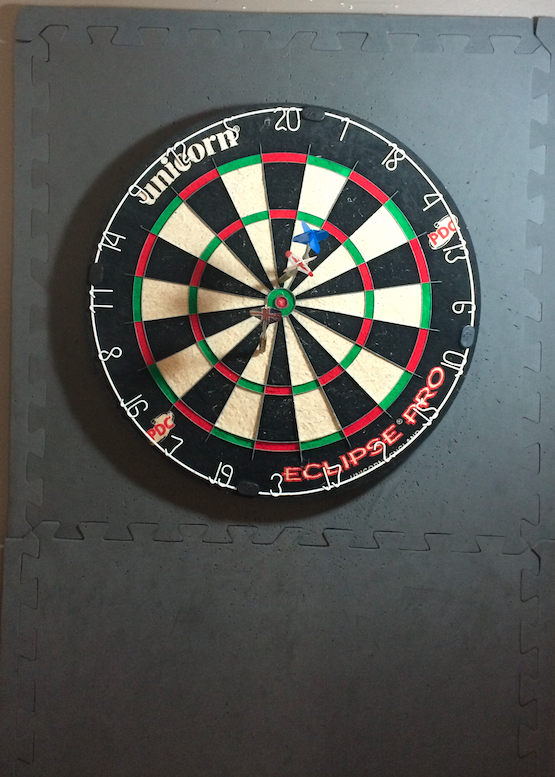 Time for a break. Going to play darts with some colleagues! #brb #darts #bullseye http://t.co/GCvKtRt9qB