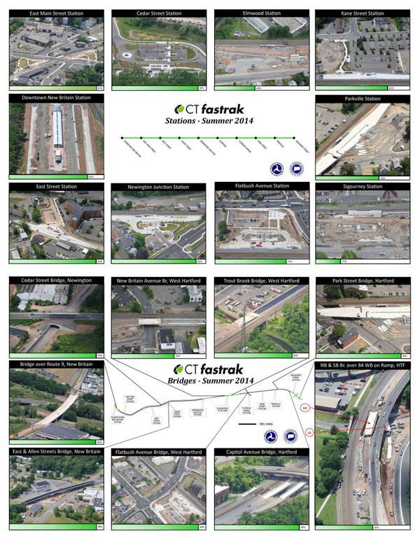 #CTfastrak station & bridge progress photo montages--summer 2014. Nearing the finish line on many stations & bridges! http://t.co/7vrHNJxGpm