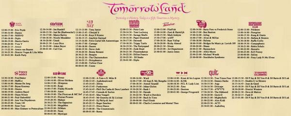 Tomorrowland 2014 Second Weekend | Line Up & Live Stream #Tomorrowland ...