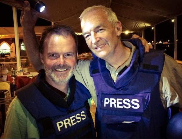 My deepest respect to @jonsnowC4 who came in to #Gaza at great personal risk today to present #c4news LIVE http://t.co/TVXEnhguXI