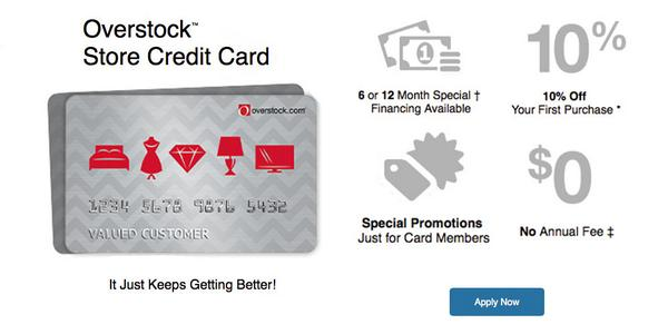 overstock credit card payment