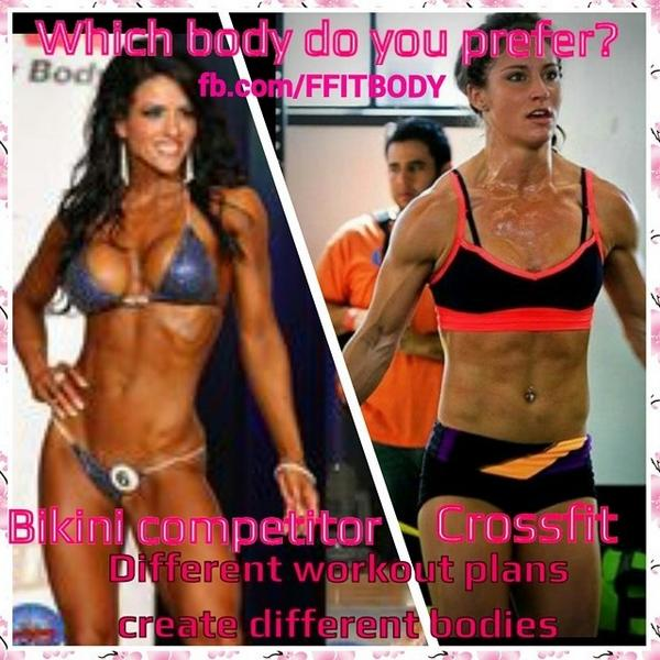 FFIT BODY On Twitter Different Types Of Workouts Create Bodies Do You Prefer The Bikini Competitor Or Crossfit Body