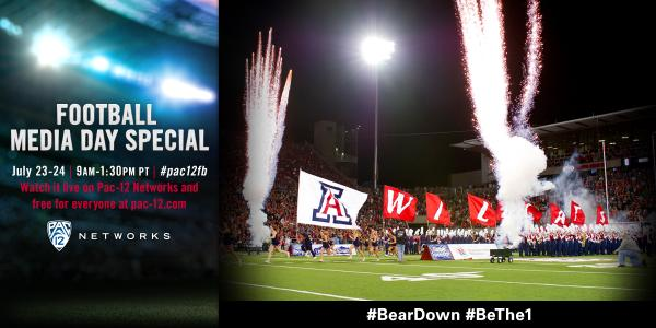 It's #pac12fb media day-eve for @ArizonaFBall.   Watch @Pac12Networks or click here @ 9 am: http://t.co/GTa0CXrflF http://t.co/7zfxJxBPBQ