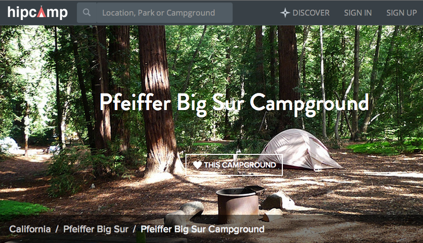 What if booking a campsite was a little more like AirBnb? Hipcamp is where it's at. http://t.co/nqDUMKYNZw http://t.co/QZ5INbV3dy
