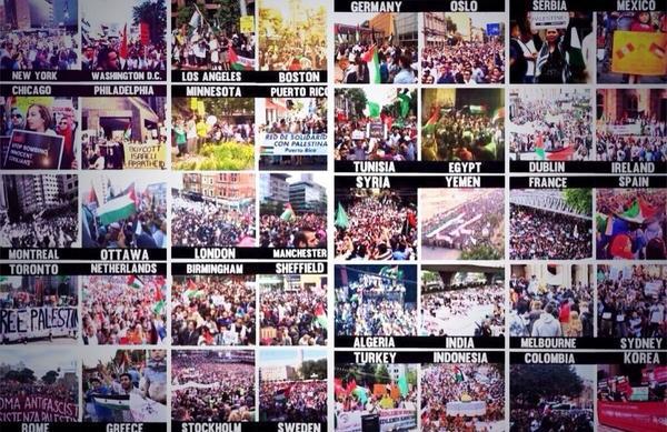 protests against gaza war