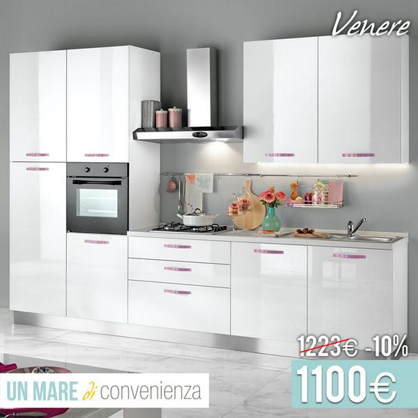Mondo convenienza on twitter cucina venere bianca con dettagli color orchidea in catalogo - Cucine outlet mondo convenienza roma ...