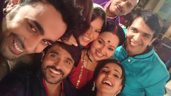 Crazy ranawats..after hectic jhalak day happy to be back home..